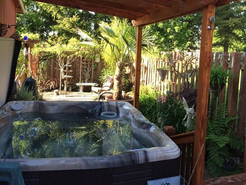 Backyard Hottub how to avoid pitfalls in a backyard hot tub design project - caldera