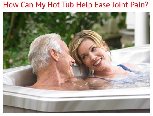 couple relaxes in a caldera spa